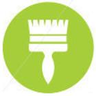 Paintbrush vector icon