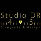 Logo estudio dr 43 dourado quadrado