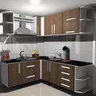 Armario de cozinha planejado em mdf madeirado 299476