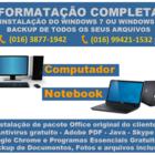Formatacao de notebook computador em santos