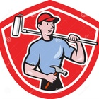 Desenhos animados de paint roller shield do pintor de casa 40766347