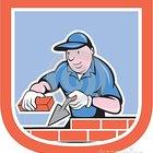 Pedreiro mason plasterer worker cartoon 41390704