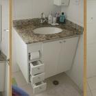 Gabinetes para banheiro com encaixe para papel