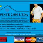 Gravura  pinte 2.000 ltda    panfleto com card